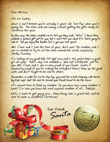 100 personalized santa letter not a cheap imitation like those shown on so many copycat websites today oh no this is the real thing