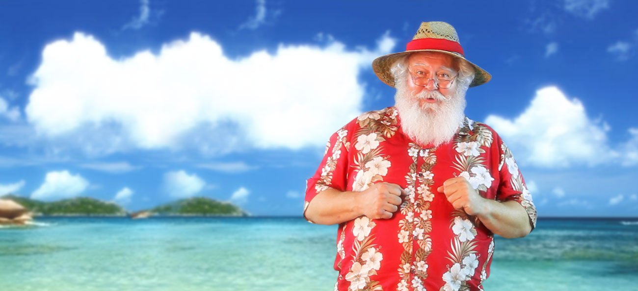 Santa is on vacation!