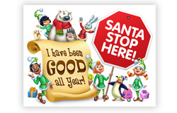 Santa, Stop Here! Removable Window Decal